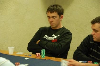"""Mathieu fait la """"Poker Face"""" qui lui a permis de gagner la partie"""