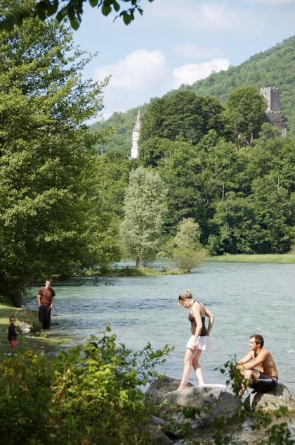 lac-de-castet-bielle-eglise et fort