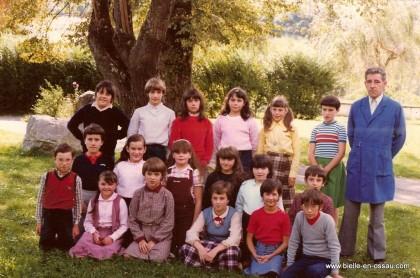 Ecole de Bielle, environ 1980