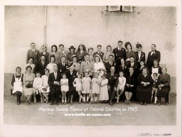 Mariage Simone Blanco 1943