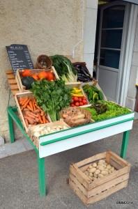 Etalage légumes