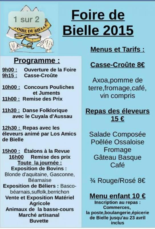 2015-programme-foire-bielle-01-programme et menu du repas